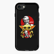 Load image into Gallery viewer, baby yoda hug kfc iPhone 7/8 Case, Black Rubber Case | Webluence.com