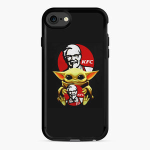 baby yoda hug kfc iPhone 7/8 Case, Black Rubber Case | Webluence.com