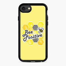 Load image into Gallery viewer, bee positive honeycomb iPhone 7/8 Case, Black Rubber Case | Webluence.com