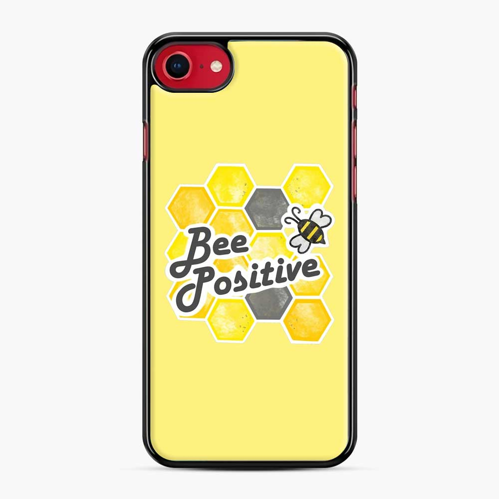bee positive honeycomb iPhone 7/8 Case, Black Plastic Case | Webluence.com