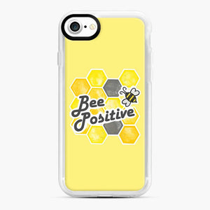 bee positive honeycomb iPhone 7/8 Case, White Rubber Case | Webluence.com