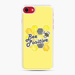 bee positive honeycomb iPhone 7/8 Case, White Plastic Case | Webluence.com