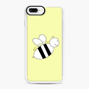 bee positive yellow iPhone 7 Plus/8 Plus Case, White Rubber Case | Webluence.com