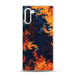 flames of fire 1 Samsung Galaxy Note 10 Case, White Plastic Case | Webluence.com