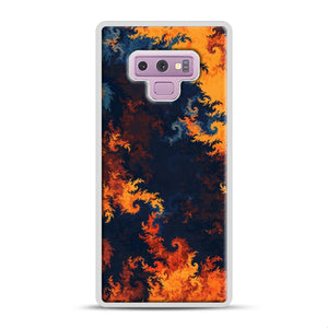 flames of fire 1 Samsung Galaxy Note 9 Case, White Rubber Case | Webluence.com