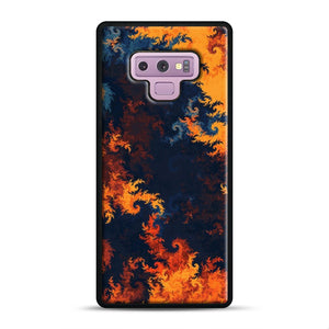 flames of fire 1 Samsung Galaxy Note 9 Case, Black Rubber Case | Webluence.com