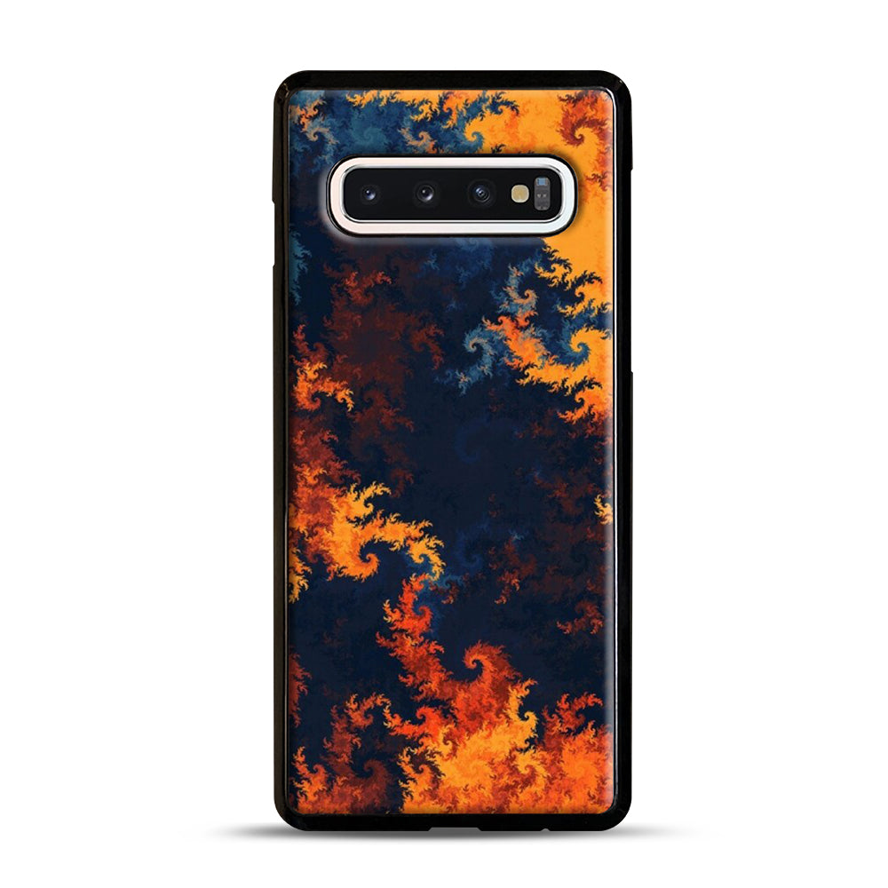flames of fire 1 Samsung Galaxy S10 Case, Black Plastic Case | Webluence.com