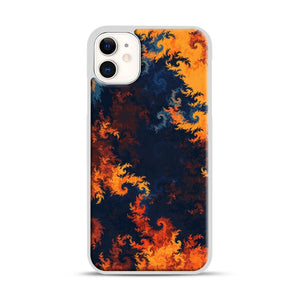 flames of fire 1 iPhone 11 Case.jpg, White Rubber Case | Webluence.com