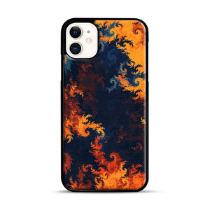 flames of fire 1 iPhone 11 Case.jpg, Black Rubber Case | Webluence.com