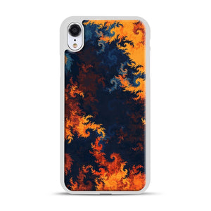 flames of fire 1 iPhone XR Case, White Rubber Case | Webluence.com