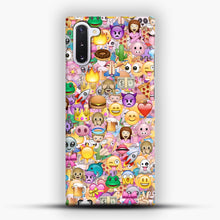 Load image into Gallery viewer, happy emoji pattern Samsung Galaxy Note 10 Case, Snap Case | Webluence.com