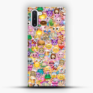 happy emoji pattern Samsung Galaxy Note 10 Case, Snap Case | Webluence.com