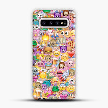 Load image into Gallery viewer, happy emoji pattern Samsung Galaxy S10 Plus Case, Snap Case | Webluence.com