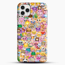 Load image into Gallery viewer, happy emoji pattern iPhone 11 Pro Case, Snap Case | Webluence.com