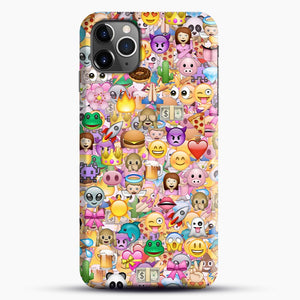 happy emoji pattern iPhone 11 Pro Max Case.jpg, Snap Case | Webluence.com