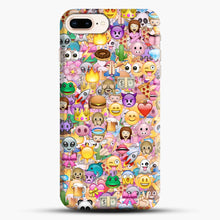 Load image into Gallery viewer, happy emoji pattern iPhone 7 Plus/8 Plus Case, Snap Case | Webluence.com
