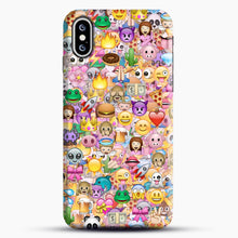 Load image into Gallery viewer, happy emoji pattern iPhone XS Max Case, Snap Case | Webluence.com