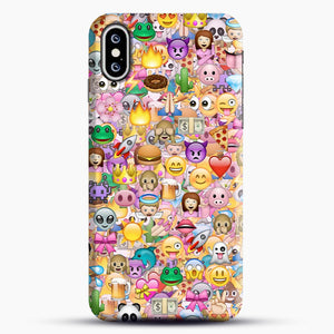 happy emoji pattern iPhone XS Max Case, Snap Case | Webluence.com