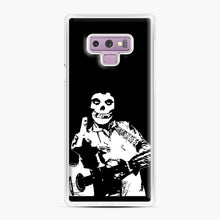 Load image into Gallery viewer, misfits cash Samsung Galaxy Note 9 Case, White Plastic Case | Webluence.com