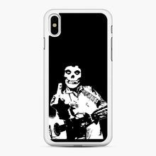 Load image into Gallery viewer, misfits cash iPhone XS Max Case, White Rubber Case | Webluence.com