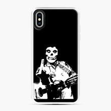 Load image into Gallery viewer, misfits cash iPhone XS Max Case, White Plastic Case | Webluence.com