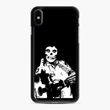 Load image into Gallery viewer, misfits cash iPhone XS Max Case, Black Rubber Case | Webluence.com
