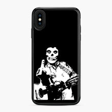 Load image into Gallery viewer, misfits cash iPhone XS Max Case, Black Plastic Case | Webluence.com