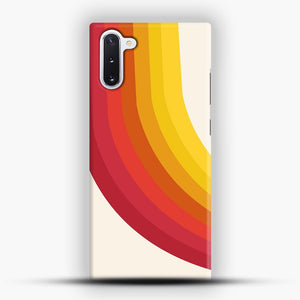 retro 70s style throwback vibes rainbow Samsung Galaxy Note 10 Case, Snap Case | Webluence.com