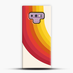 retro 70s style throwback vibes rainbow Samsung Galaxy Note 9 Case, Snap Case | Webluence.com