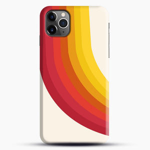 retro 70s style throwback vibes rainbow iPhone 11 Pro Max Case.jpg, Snap Case | Webluence.com