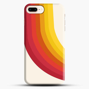 retro 70s style throwback vibes rainbow iPhone 7 Plus/8 Plus Case, Snap Case | Webluence.com