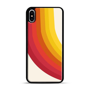 retro 70s style throwback vibes rainbow iPhone XS Max Case, Black Rubber Case | Webluence.com