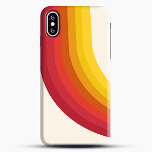 retro 70s style throwback vibes rainbow iPhone XS Max Case, Snap Case | Webluence.com
