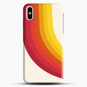 retro 70s style throwback vibes rainbow iPhone X/XS Case, Snap Case | Webluence.com