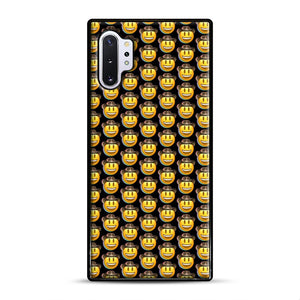 trippy cowboy emoji Samsung Galaxy Note 10 Plus Case, Black Rubber Case | Webluence.com