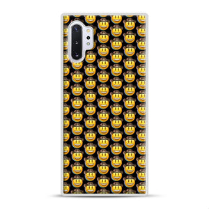 trippy cowboy emoji Samsung Galaxy Note 10 Plus Case, White Plastic Case | Webluence.com