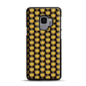 trippy cowboy emoji Samsung Galaxy S9 Case, Black Rubber Case | Webluence.com