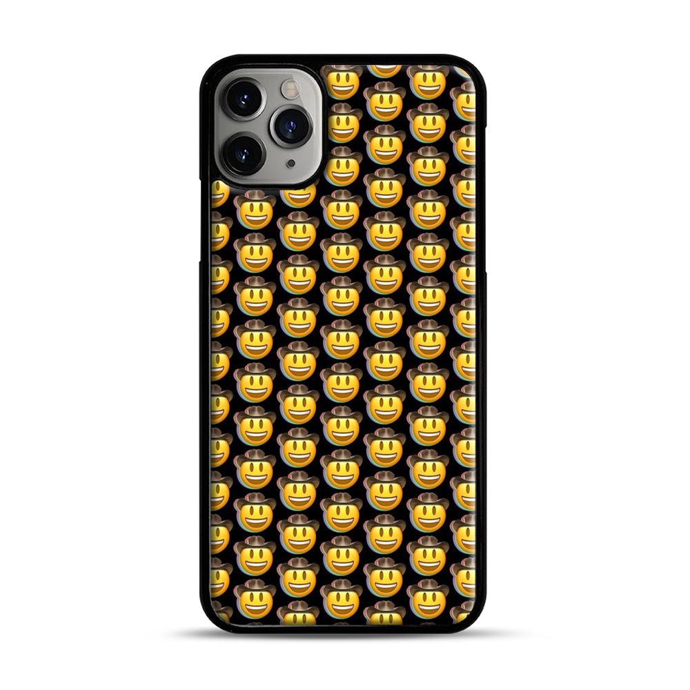 trippy cowboy emoji iPhone 11 Pro Max Case.jpg, Black Plastic Case | Webluence.com