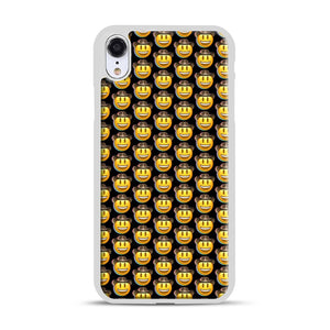 trippy cowboy emoji iPhone XR Case, White Rubber Case | Webluence.com