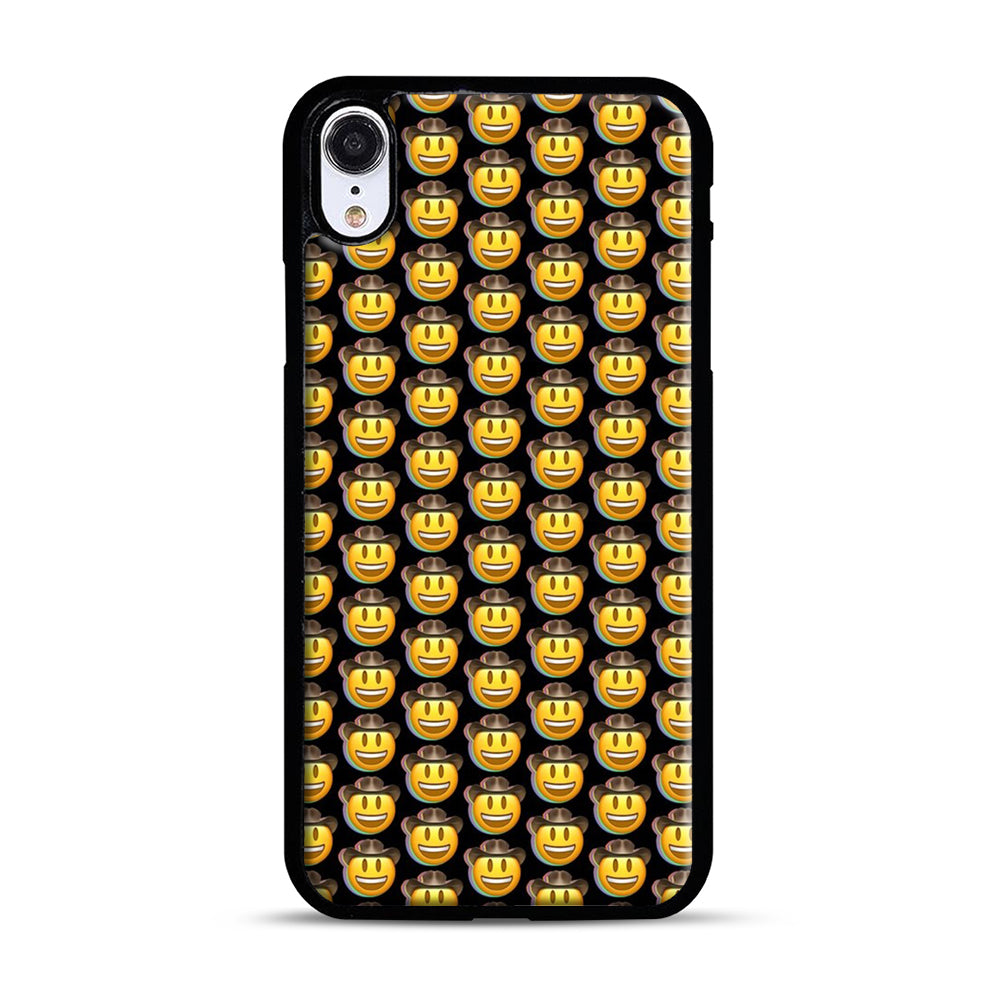 trippy cowboy emoji iPhone XR Case, Black Plastic Case | Webluence.com