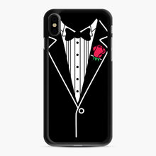 Load image into Gallery viewer, tux tee iPhone XS Max Case, Black Rubber Case | Webluence.com