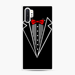 tuxedo Red Bow Samsung Galaxy Note 10 Plus Case, White Rubber Case | Webluence.com