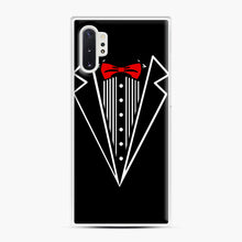 Load image into Gallery viewer, tuxedo Red Bow Samsung Galaxy Note 10 Plus Case, White Plastic Case | Webluence.com
