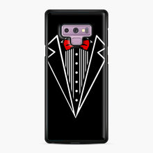 Load image into Gallery viewer, tuxedo Red Bow Samsung Galaxy Note 9 Case, Black Plastic Case | Webluence.com