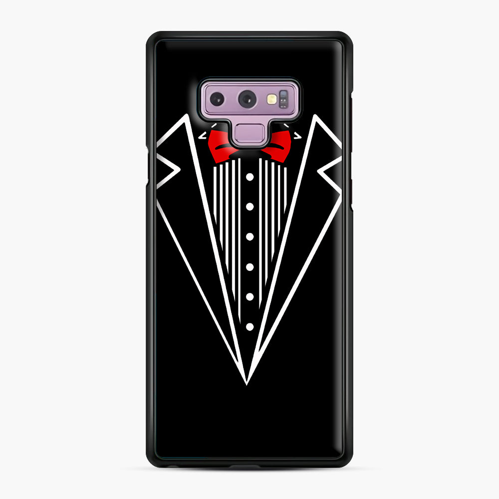 tuxedo Red Bow Samsung Galaxy Note 9 Case, Black Plastic Case | Webluence.com