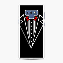 Load image into Gallery viewer, tuxedo Red Bow Samsung Galaxy Note 9 Case, White Rubber Case | Webluence.com