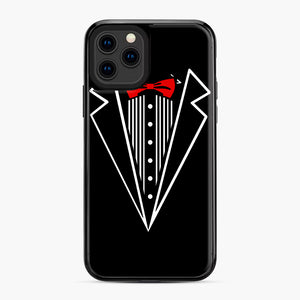 tuxedo Red Bow iPhone 11 Pro Case, Black Plastic Case | Webluence.com