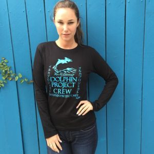 dolphin project crew graphic tee long sleeve