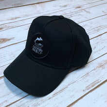 Load image into Gallery viewer, Dolphin Project Black Twill Hat with Round Black Patch