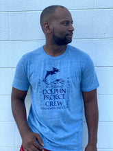 Load image into Gallery viewer, Unisex Dolphin Project Crew Blue Tee